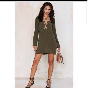 BUY 1 GET 1 FREE NASTY GAL OLIVE GREEN DRESS